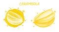 Carambola. Watercolor illustration