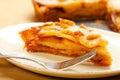 Caramel Apple Tart Slice Stock Photos