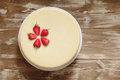 Caramel cheesecake with strawberry Royalty Free Stock Photo
