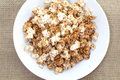 Caramel chocolate popcorn photo of Royalty Free Stock Images