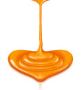 Caramel heart-shaped flow with clipping path Royalty Free Stock Photo