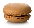 Caramel macaron isolated Royalty Free Stock Photo