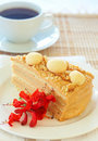 Caramel medovik cake Royalty Free Stock Photos