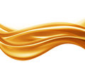 Caramel wave abstract on a white background Stock Photos