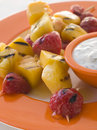 Caramelised Fruit Brochette Royalty Free Stock Image