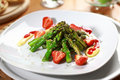 Caramelized asparagus with strawberry Royalty Free Stock Photography