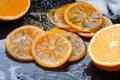 Caramelized Orange Slices Royalty Free Stock Photography