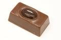 Caramelo marrón contra un fondo blanco Imágenes de archivo libres de regalías