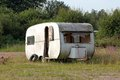 Caravan in desolate condition Royalty Free Stock Photo
