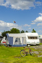 Caravan holiday Sweden Royalty Free Stock Photo