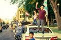 A caravan of Puerto Rican pride on display in Chicago`s Humboldt Park neighborhood