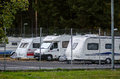 Caravan rental place in stockholm caravans sweden Stock Photography