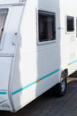 Caravan a trailer at the back of a car Royalty Free Stock Photo