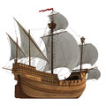 Caravel. Royalty Free Stock Photo