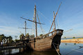 Caravels of Christopher Columbus, La Rabida, Huelva province, Spain Royalty Free Stock Photo