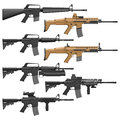 Carbines layered vector illutration of different american Stock Image