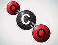Carbon dioxide atoms