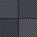Carbon fiber seamless patterns set Stock Images