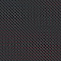Carbon fibre with red stripes Royalty Free Stock Photos