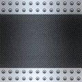 Carbon fibre and steel background Stock Photo
