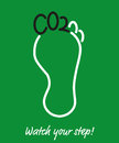 Carbon Footprint Environmental Awareness Poster