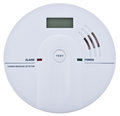 Carbon monoxide alarm isolated over white Royalty Free Stock Photo
