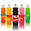 Carbonated drinks set Stock Photos