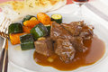Carbonnade of Beef Stew Carrots Courgettes Royalty Free Stock Photo
