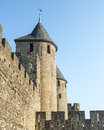 Carcassonne france aude languedoc roussillon the medieval walls Stock Photos