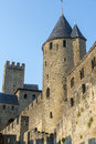 Carcassonne france aude languedoc roussillon the medieval walls Stock Images