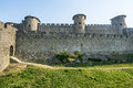 Carcassonne france aude languedoc roussillon the medieval walls Royalty Free Stock Photos