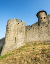 Carcassonne france aude languedoc roussillon the medieval walls Royalty Free Stock Images