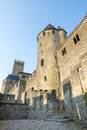 Carcassonne france aude languedoc roussillon the medieval walls Stock Image