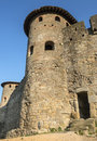 Carcassonne france aude languedoc roussillon the medieval walls Stock Photography