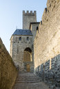 Carcassonne france aude languedoc roussillon the medieval walls Royalty Free Stock Photo