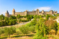 Carcassonne france the old city of south of Royalty Free Stock Photography