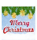 Colorful greeting card with inscription Merry Christmas