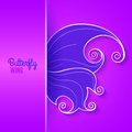 Card with abstract butterfly wing purple vector illustration Stock Images