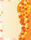 Card with autumn leaves Stock Photos
