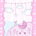 Card for baby arrival. Stock Images