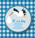 Card for baby boy shower Stock Images