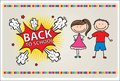 Card back to school Royalty Free Stock Photography