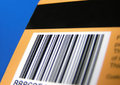 Card with barcode and stripe Royalty Free Stock Photo