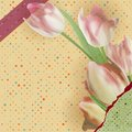 Card with beautiful red tulips polka dot eps stylized vintage and also includes Stock Images