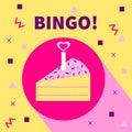 Card bingo. Vector flat icon