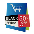 Card for black friday a colored icon with a cart silhouette Royalty Free Stock Photo