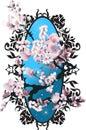 Card with blossom sakura