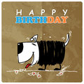 Card with cartoon doggy greeting cute Stock Images