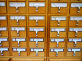Card Catalog Cabinet in Academic Library Royalty Free Stock Photography