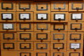 Card catalog in a library Royalty Free Stock Photo